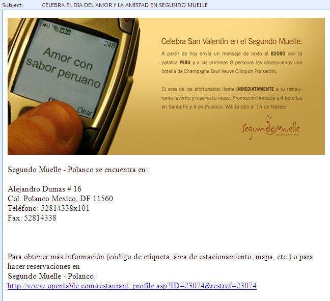 Email del Segudo Muelle
